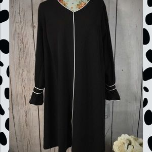 Sharagano  Black Dress with bows 20W